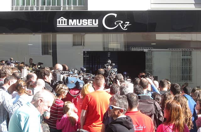 The Cristiano Ronaldo Museum on it's opening day