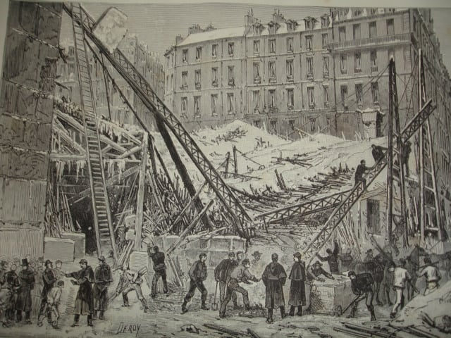 Collapse of the Saint Martin Market in 1879 under the weight of snow