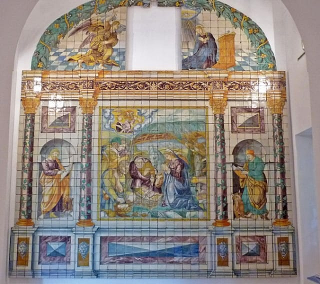 Adoration of the Magi, Museum of azulejos, Lisbon.