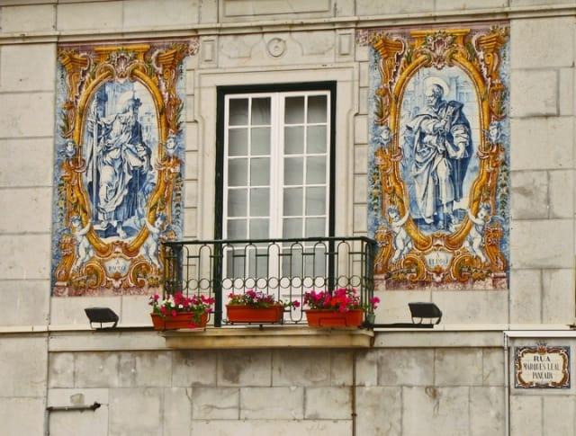 Azulejo tile façade