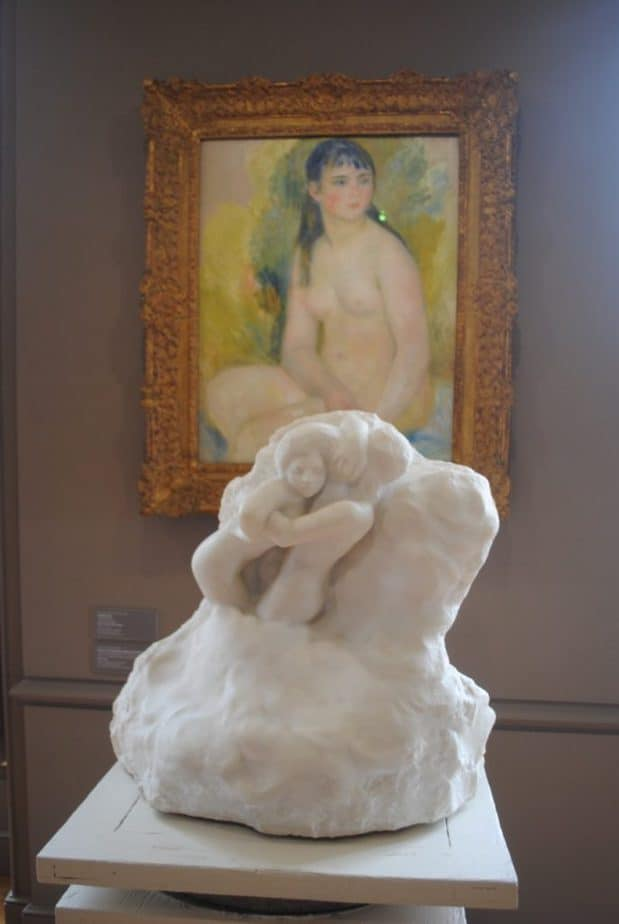 Paolo and Francesca in the clouds by Auguste Rodin