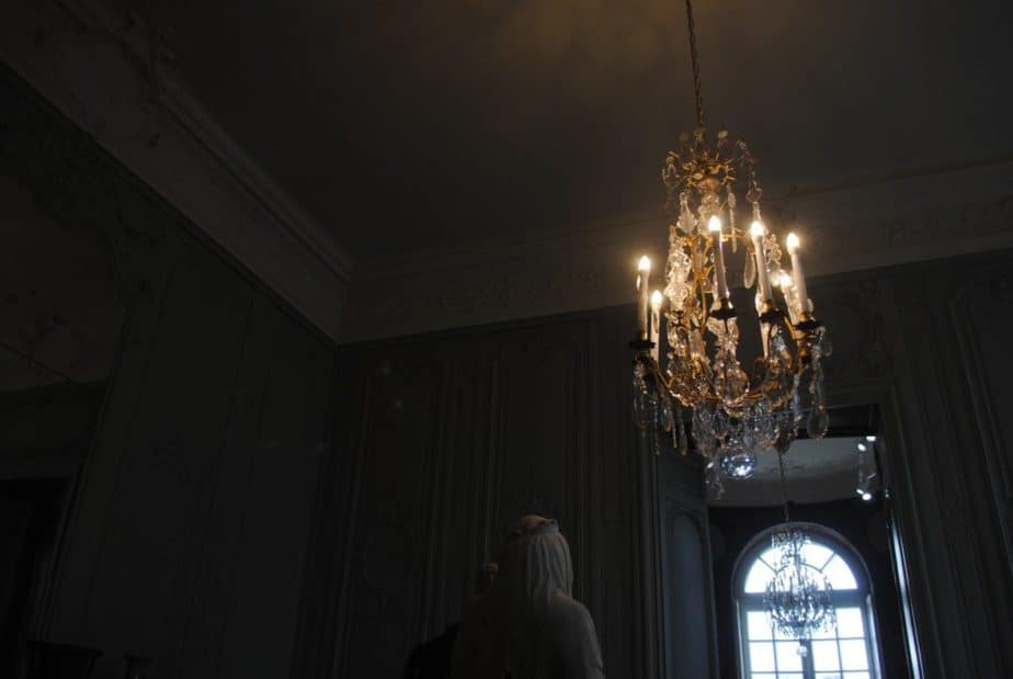 Chandelier in replica room at Rodin Museum, Paris