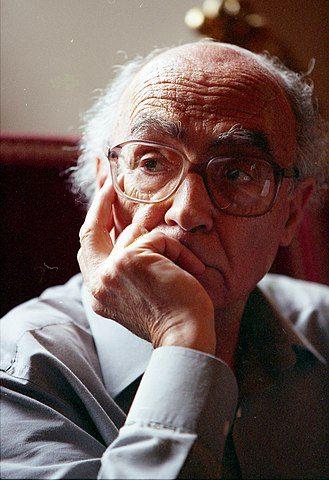 Saramago in 1999 in Italy