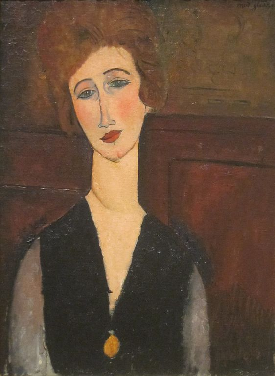 Portrait of a Woman' by Amedeo Modigliani, 1917-18