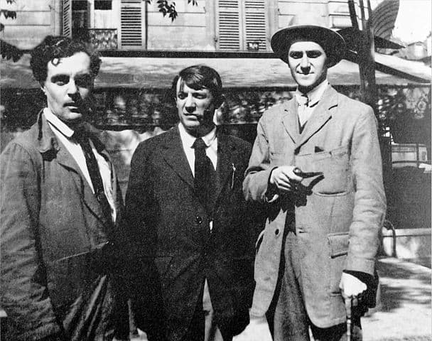 Modigliani, Picasso and André Salmon in Paris