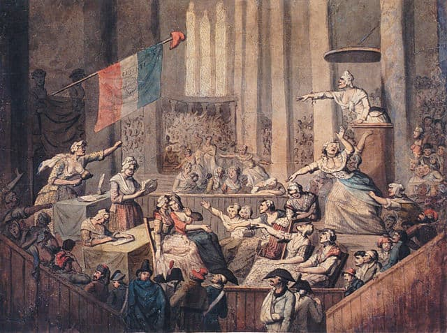 Group of Revolutionaries inside a church
