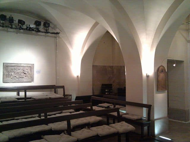 Inside the chapel of the crypt