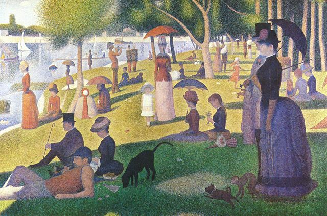 A Sunday afternoon at the island of Grande Jatte by Georges-Pierre Seurat