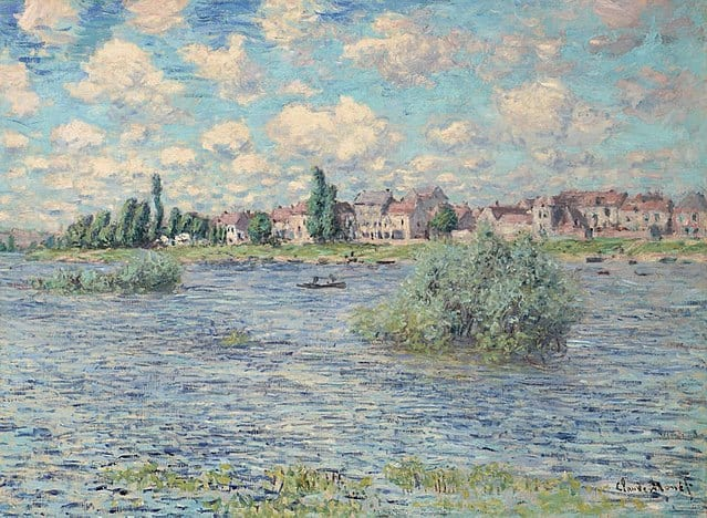 La Seine à Lavacourt by Claude Monet