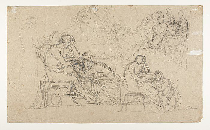 Priam Pleads with Achilles for Hectors Body, 1804-1815
