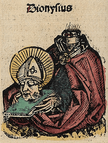 Depiction of Saint Denis in the Nuremberg Chronicles