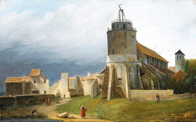 Saint Pierre of Montmartre Abbey in ruins in 1820