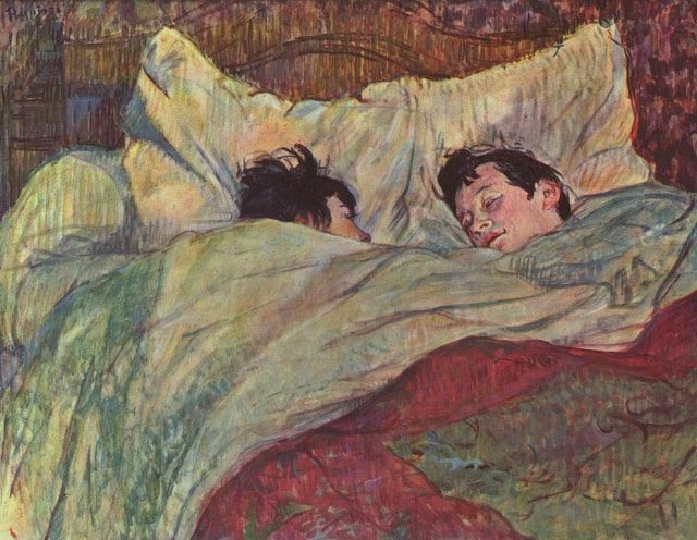In the Bed by Henri de Toulouse-Lautrec