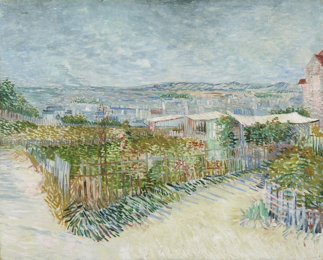 Montmartre: behind the Moulin de la Galette by Vincent Van Gogh