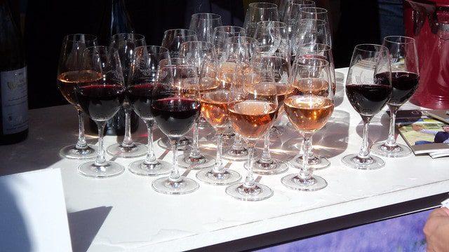 Wine samples at La Fête des Vendanges