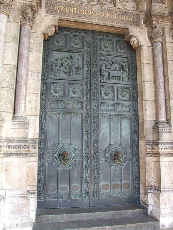 Bronze doors of Sacre Coeur