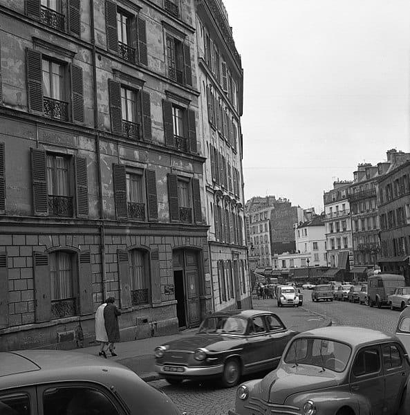 rue Lepic in Montmartre in 1965