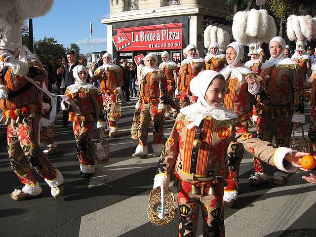 Participants in La Fête des Vendanges in costume