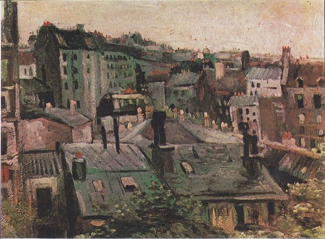 Overlooking the rooftops of Paris
