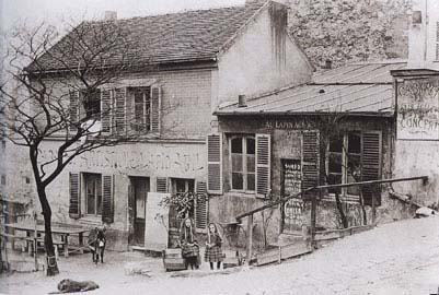 Au Lapin Agile between 1880 and 1890