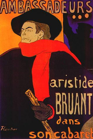 Poster promoting the artists' campaign to save the Montmartre vineyard