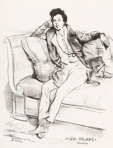 Alexandre Dumas by Achille Devéria