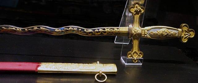 Lafayette's Freemasonry sword