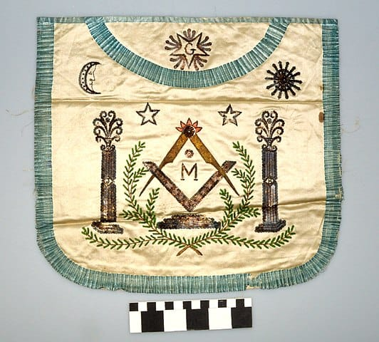 Example of a Freemason's apron