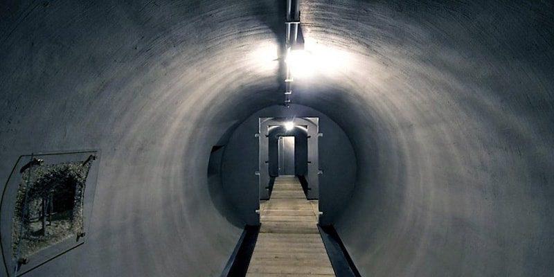 Tunnel Bomb shelter Villa Torlonia Rome