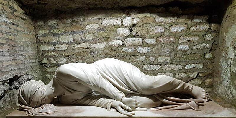 Crypt of Saint Cecilia catacombs Callixtus
