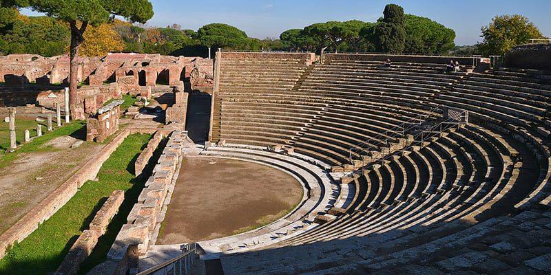 Ostia amphitheater roman ruins