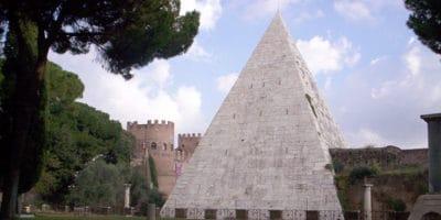 The Pyramid of Caius Cestius in Rome