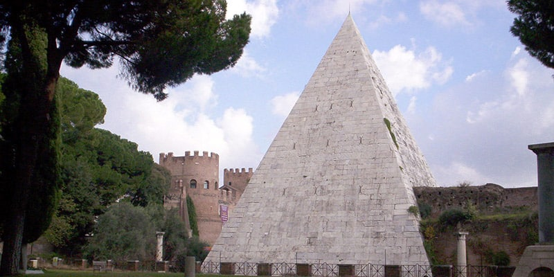 The Pyramid of Caius Cestius in Rome