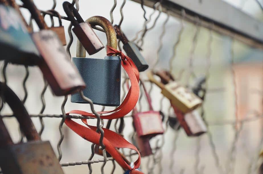 Love padlocks bridges Rome