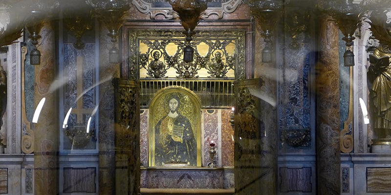 Underground tomb of Saint Peter's in Rome