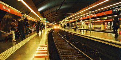 Barcelona Metro station.