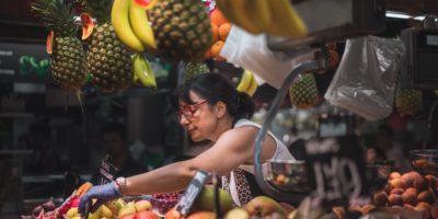 Barcelona fruit market