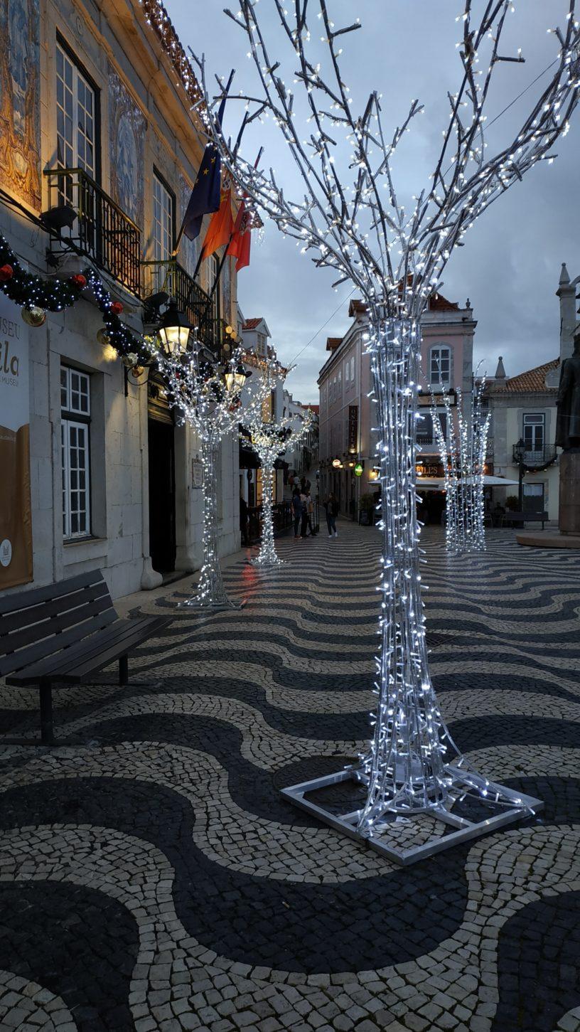 Cascais decorations during Christmas