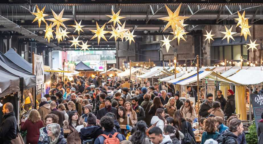 Canopy Market at Christmas, King's Cross