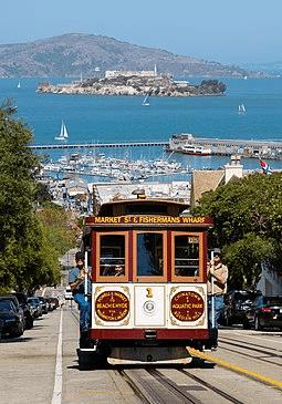 Vier of Fishman's Wharf and Alcatraz