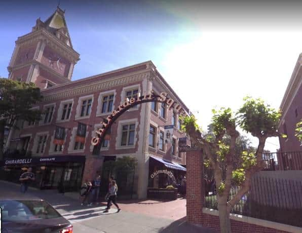 Ghirardelli Chocolate factory and ice cream parlor is here