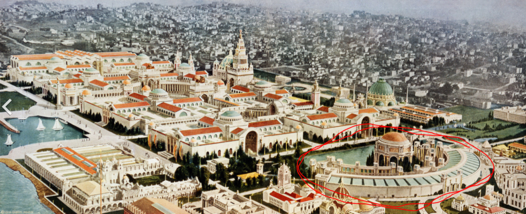The 1915 Panama-Pacific Exposition Grounds
