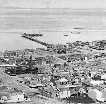 Meiggs Wharf in the 1880s