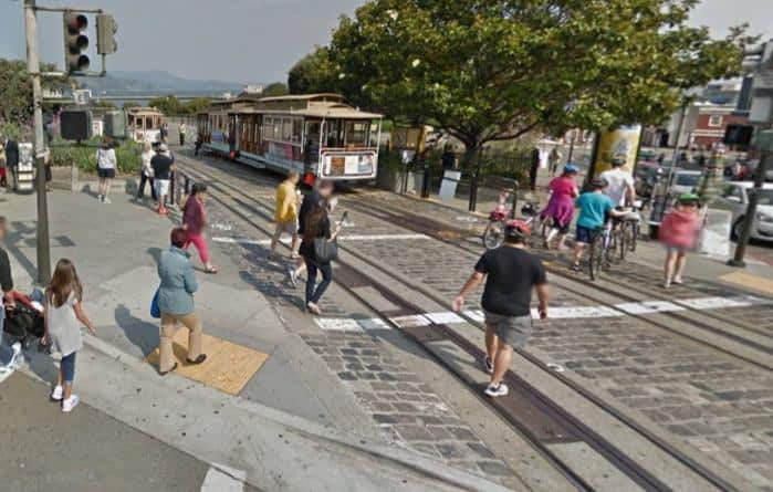 Hyde Street Cable Car turnabout