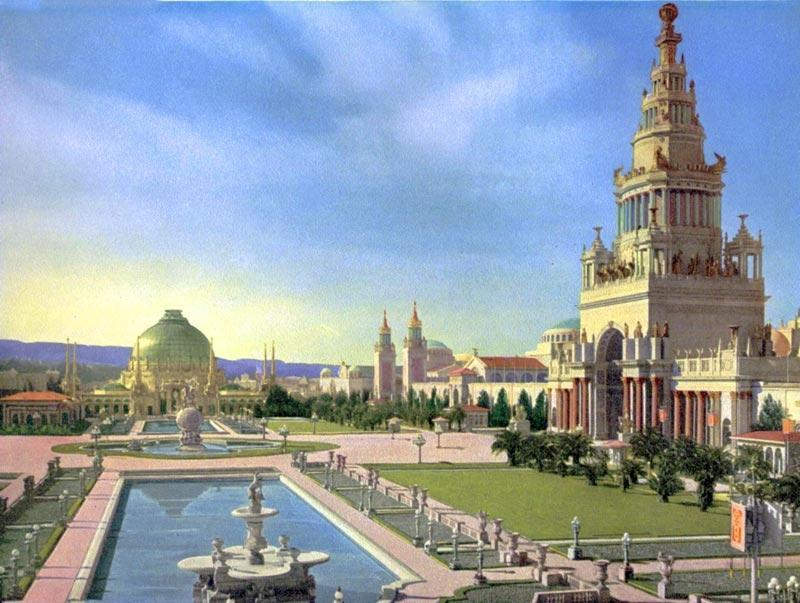 Main Hall - 1915 Panama-Pacific Exposition in San Francisco – torn down 30 days after Expo closed