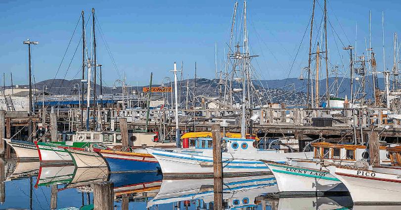 Fishing boats at Fisherman's Wharf