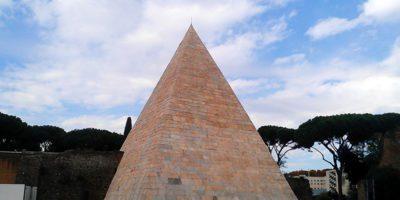 Pyramid of Caius Cestius Rome Italy