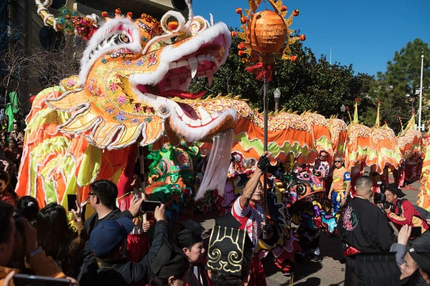 Dragon in New Year's Parade - Chinatown
