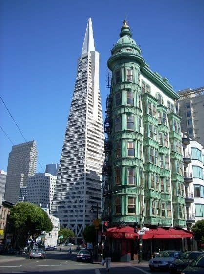 Sentinel Building with TransAmerica Pyramid