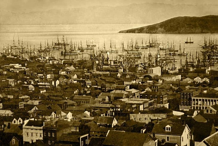 View of Barbary Coast in 1860's